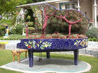 Unusual piano in the Giant's House sculpture garden, Akaroa (CIMG9156) | by alg24