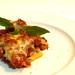 Mini Penne con Pomodoro e Prosciutto al forno.