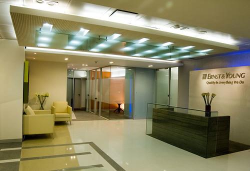 Foyer Office : Eny office bangalore main foyer commissioned work