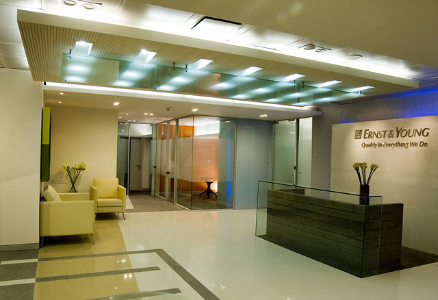 Foyer Office Vacancies : Eny office bangalore main foyer commissioned work
