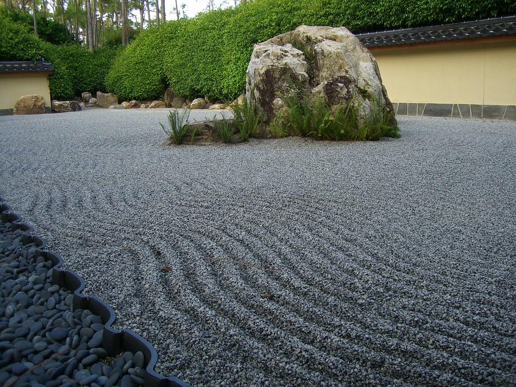 Abstract zen garden at the morikami japanese gardens in for Japanese sand garden