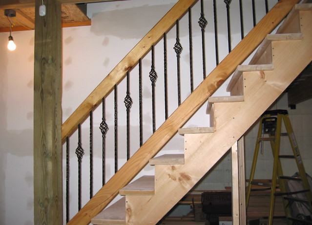 Basement Stair Rail | By Joated Basement Stair Rail | By Joated