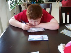 Ethan Writing Thank-You Notes | by artsmith_satx