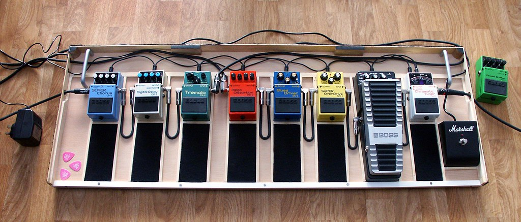 guitar pedal board pedals the board with the stomp boxes flickr. Black Bedroom Furniture Sets. Home Design Ideas
