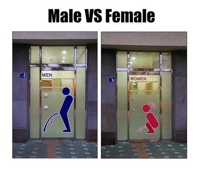 Male And Female Toilet  It Made Me Laugh When I Got It In -5574