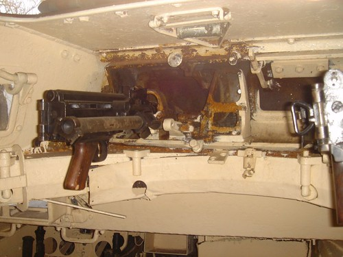 interior of german panzer 1 turret which is tiny flickr. Black Bedroom Furniture Sets. Home Design Ideas