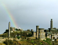 Rainbow over Calton Hill | by David Gallagher