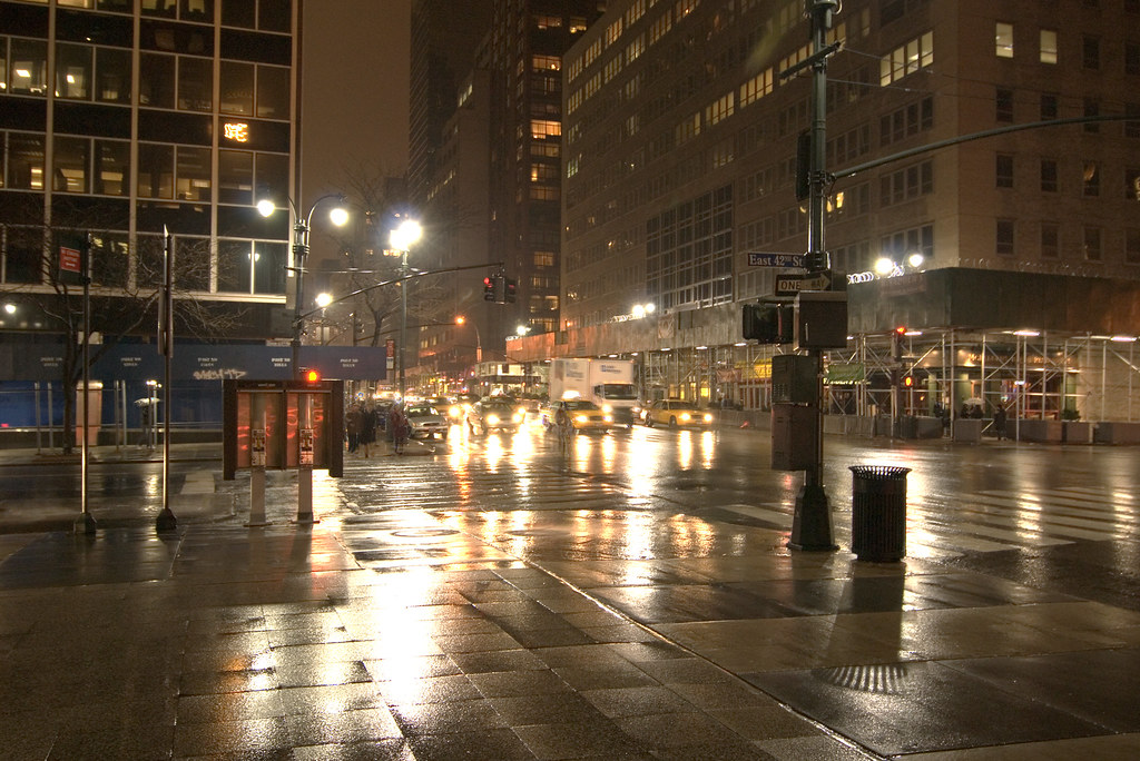 city street corner at night - photo #20