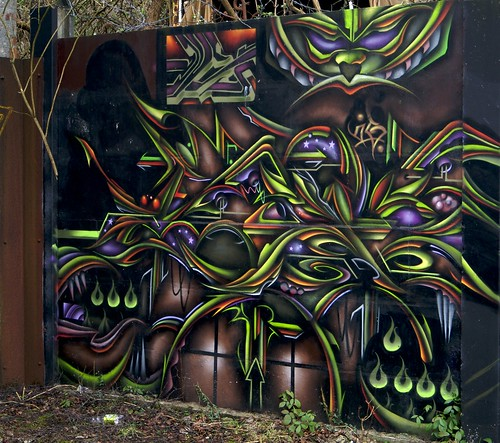 Graffiti Outside The Treforest Tin Works | by Stuart Herbert