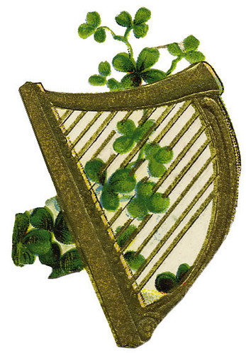 Harp with clovers | Irish Clip art | melody G. | Flickr