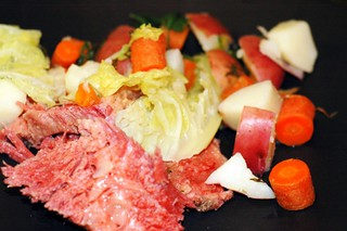 corned beef with cabbage, potatoes and carrots | by sassyradish