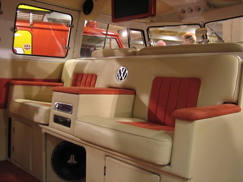Interior of custom split screen paul silver flickr for Vw kombi interior designs