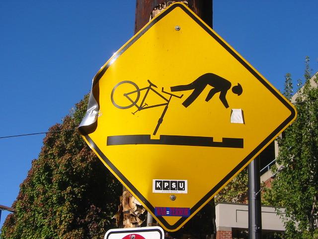 Bicycle Hazard Sign Portland Or Bicycle Hazard Sign