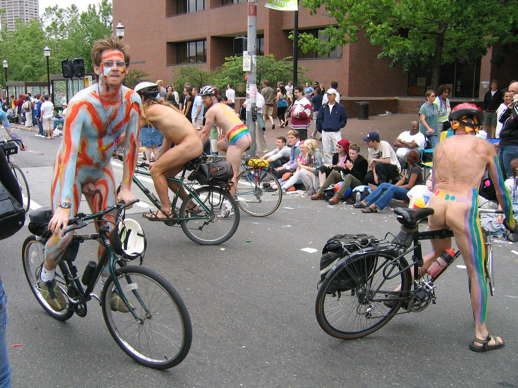 Naked Bikers, Gay Pride Parade, Seattle, Wa Michael Hanscom Flickr-5636