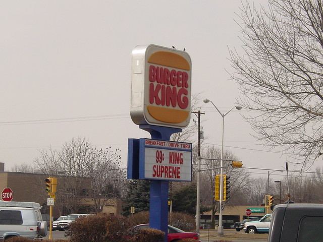 burger king sign the burger king in janesville