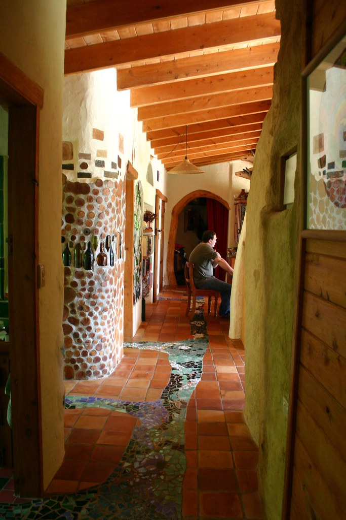 Indoor Stream Indoor Tile Mosaic Stream Cordwood Wall