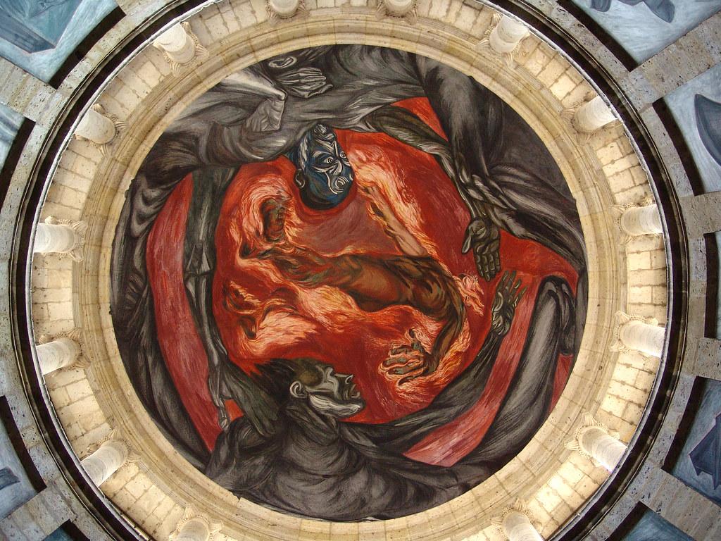 Hombre de fuego man of fire por jos clemente orozco for El hombre de fuego mural de jose clemente orozco