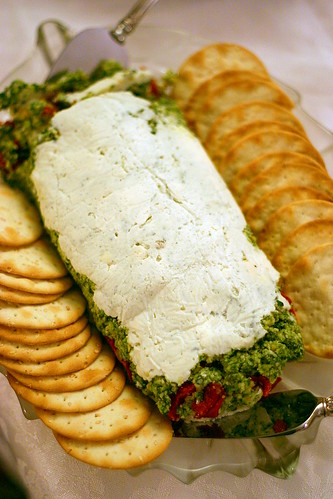 goat cheese, pesto, tomato | by smitten kitchen