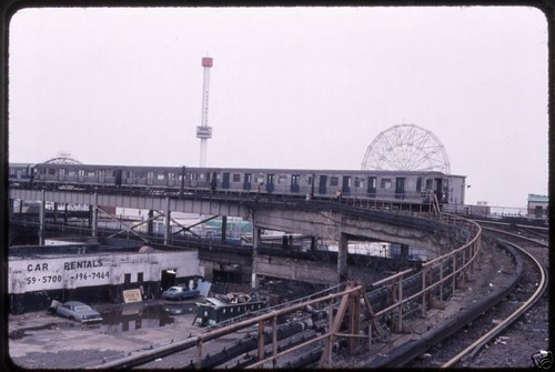 1988 Nyc Subway Train In Coney This Photo Was Taken By