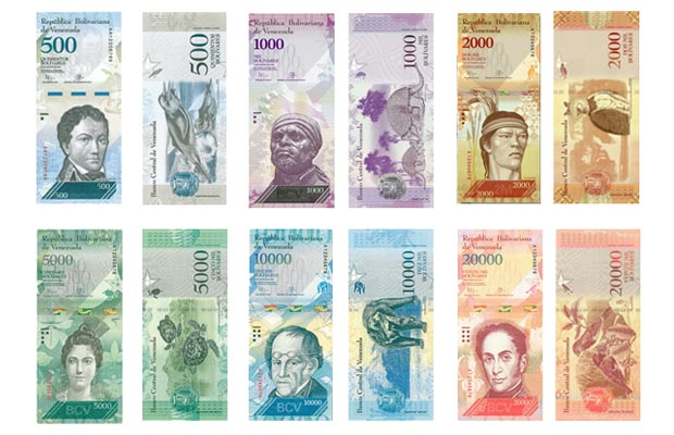 BCV presentó nueva imagen de billetes que se suman al cono monetario (Fotos)