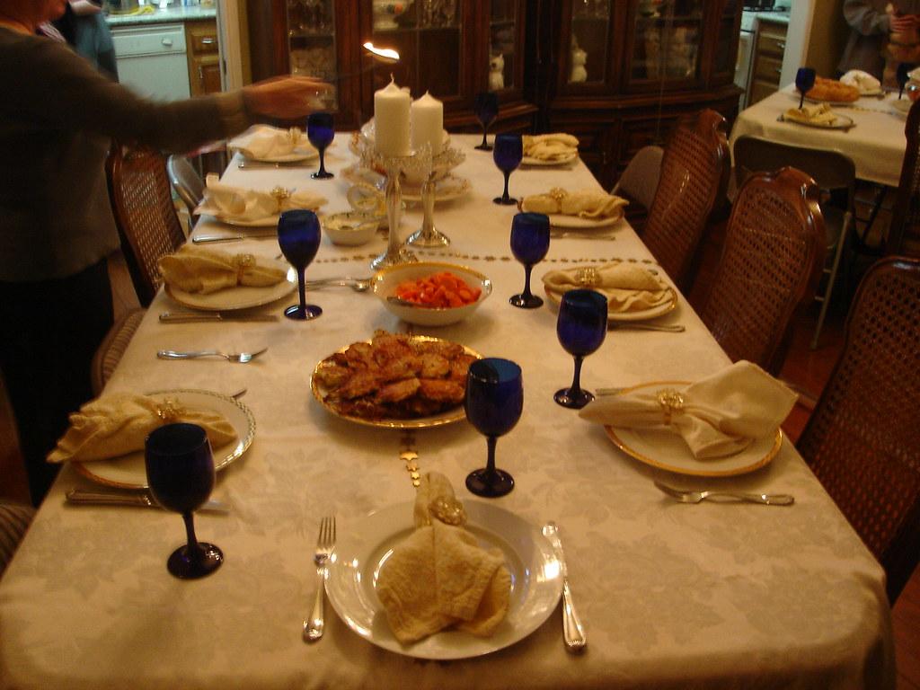 Table set up for hanukkah shoshanah flickr for Table 6 brunch denver