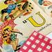 Umbrella Illustration from Vintage Alphabet Book