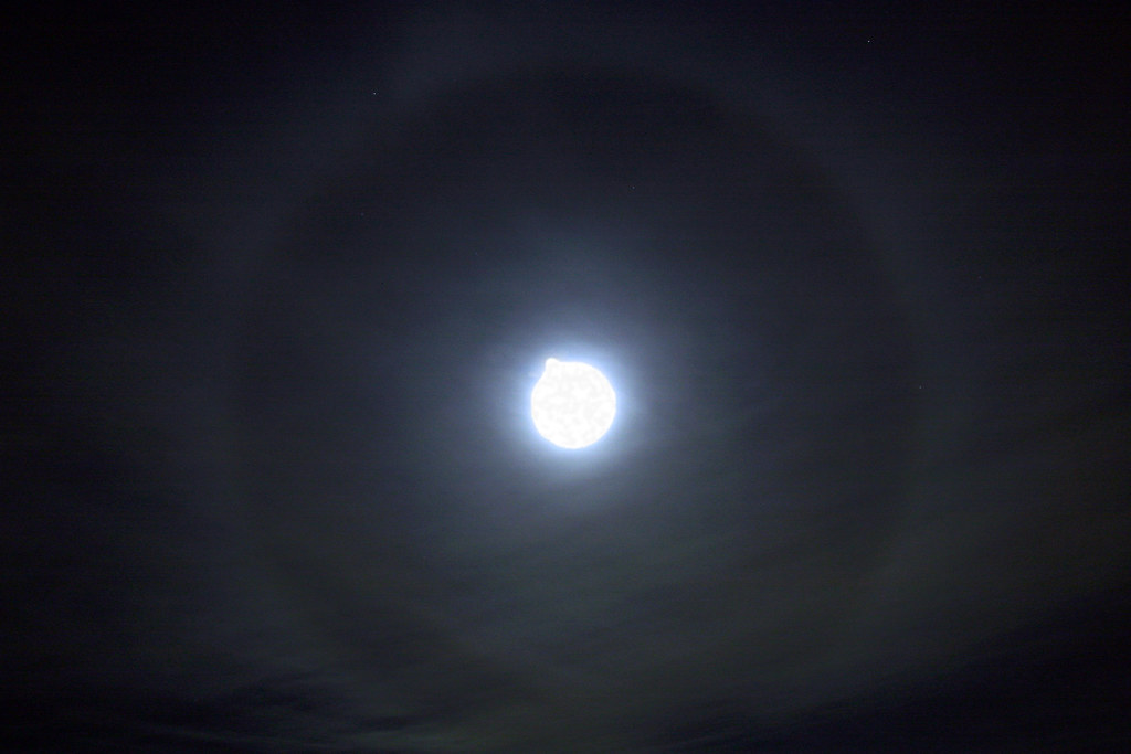 ring around the moon we were just about to leave when we