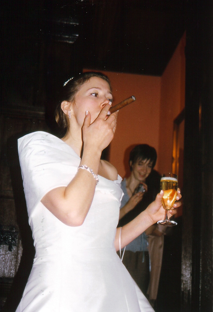 The Smoking Bride Jonathan D Flickr