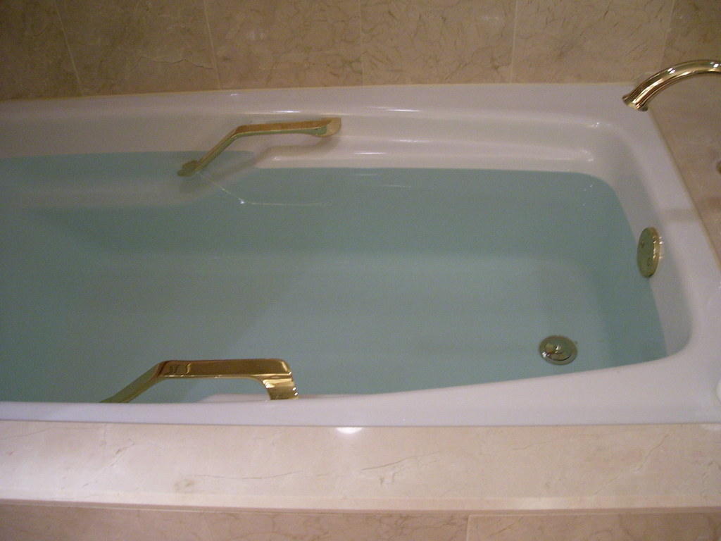 Why is the bathtub water blue? | Meredith P. | Flickr