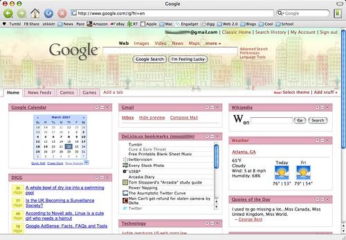 how to change google homepage theme