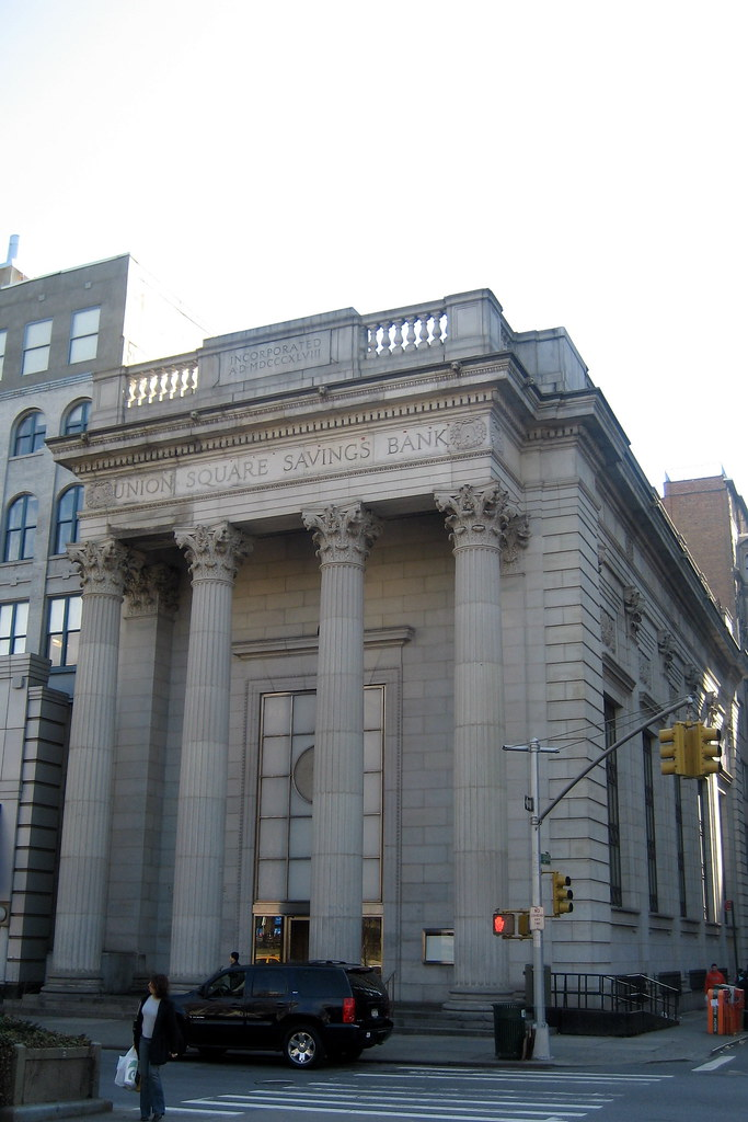Nyc Union Square Savings Bank Henry Bacon S White Granit Flickr