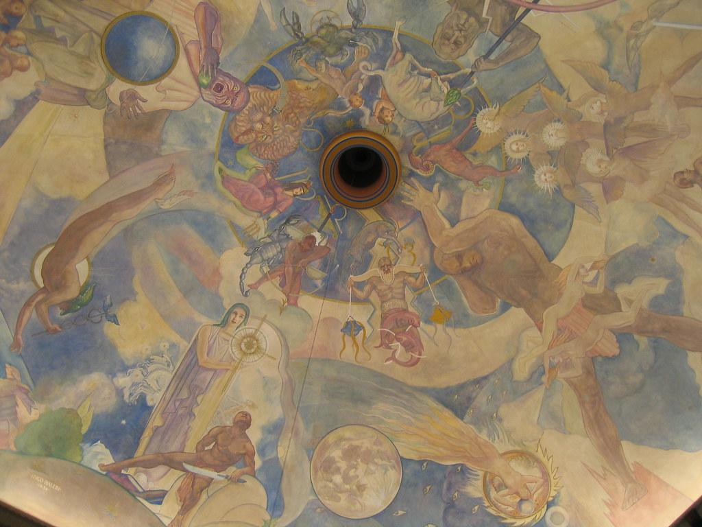 Ceiling mural the hugo ballin ceiling mural celebrates for Constellation ceiling mural