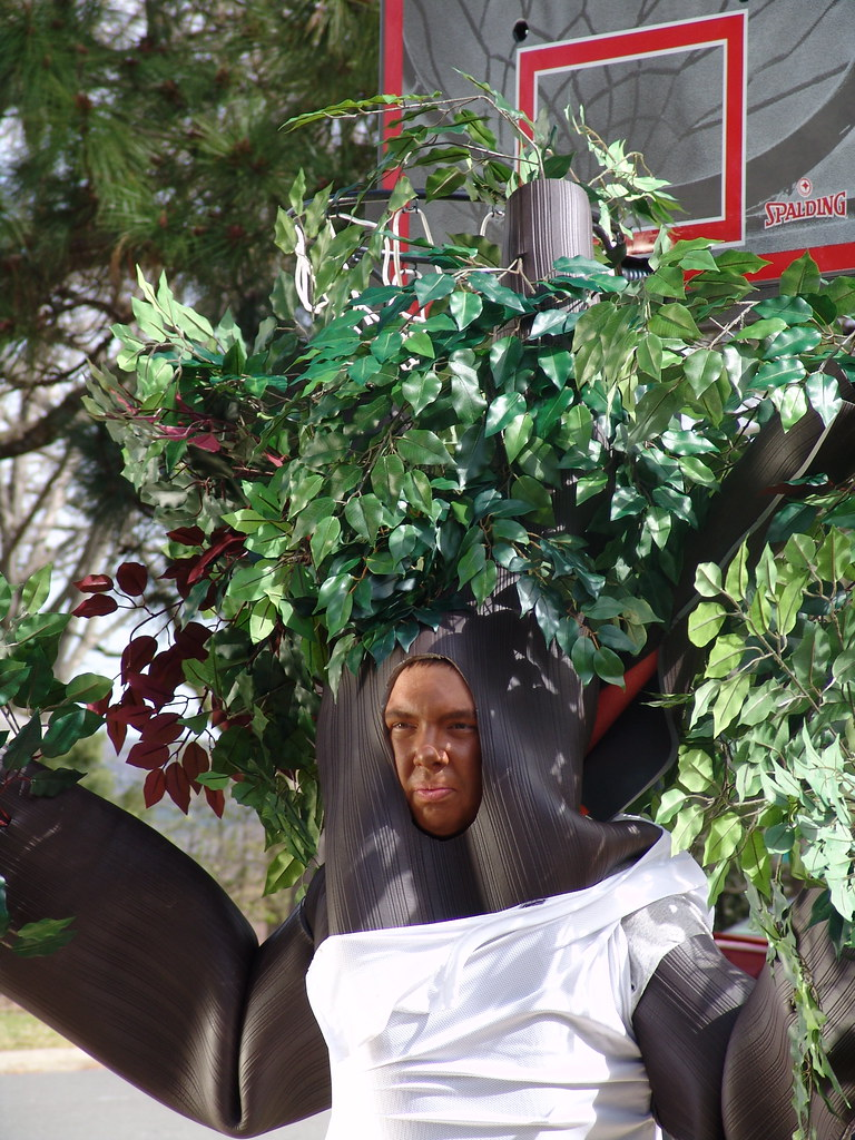 Tree Rollins Dale dressed as a tree for our Sweetser Prop…