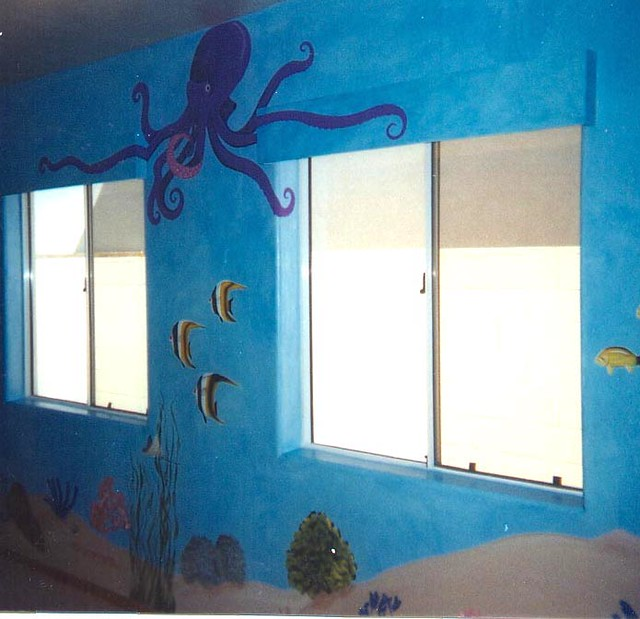 Underwater Mural Painting Bedroom Octopus Learn To Paint