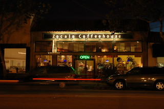 Zocalo Coffeehouse at night, front view | by Tim Holmes
