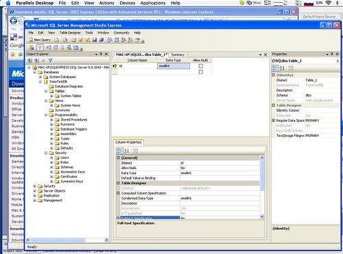 SQL Server 2005 Express Edition on Mac | by Tom Raftery