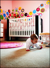 Modern Nursery Design with Circle Dot Decals | by Chris Moseley