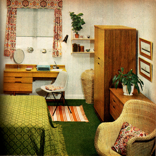 Bedroom on a budget 1960s family circle linzie hunter for 60s apartment design