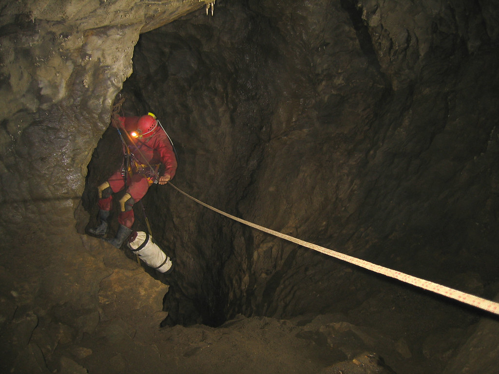 Nettlebed Cave 20m Pitch Up From Salvation Hall Rope