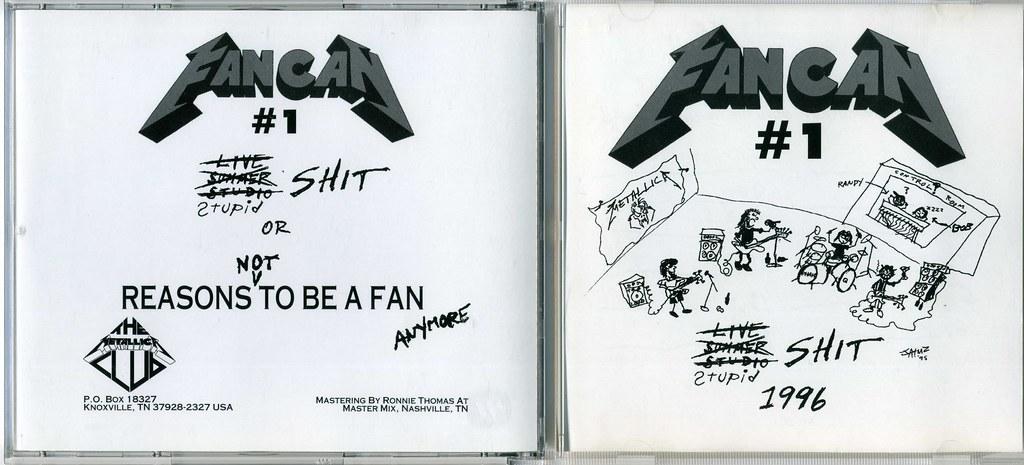 Metallica Fan Can #1 Stupid Shit CD Outside   You're damn ...