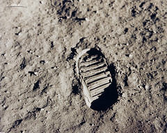 Stepping Onto the Moon's Surface | by NASAImageoftheday