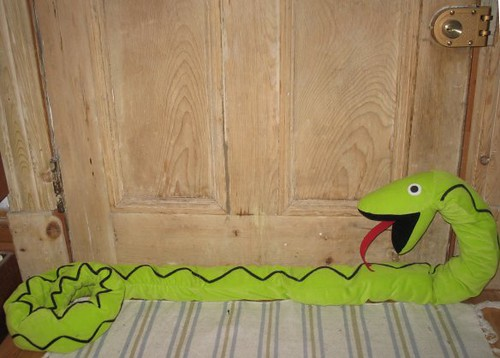 Door Guarded By Snake This Ikea Stuffed Snake Makes An