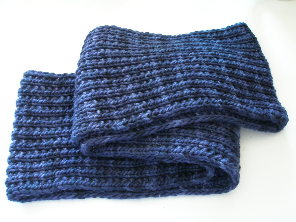 Knitting Ribbing Variations : Farrow rib malabrigo scarf knit in