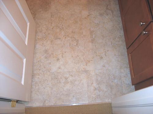 Linoleum Tile Floor | I spilled some Soft Scrub with ...