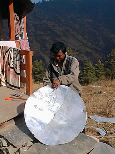Man hand-making satellite dish, Nepal | by futureatlas.com