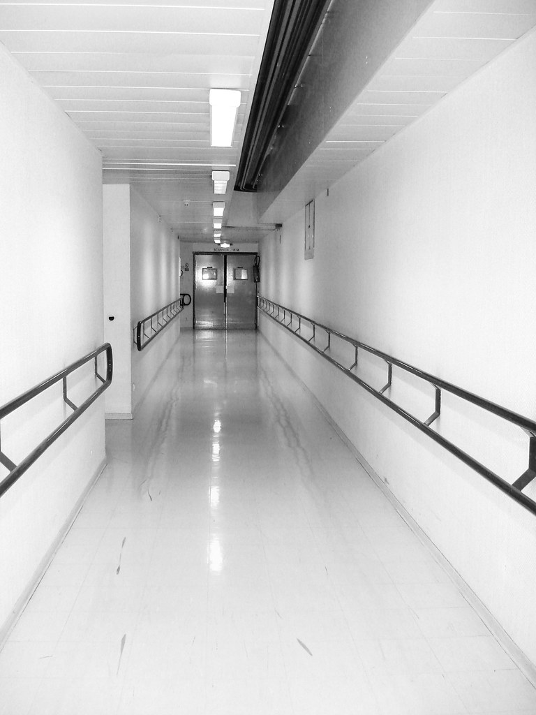 Hospital Corridor In Gray That Day I Went To The