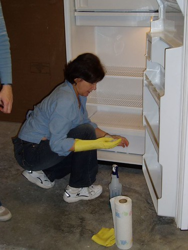 Pam gets refrigerator cleaned up after storage | by cbb4104