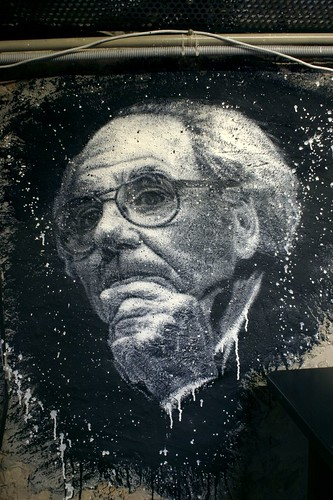 Jean Baudrillard, painted portrait IMG-1875 | by Abode of Chaos