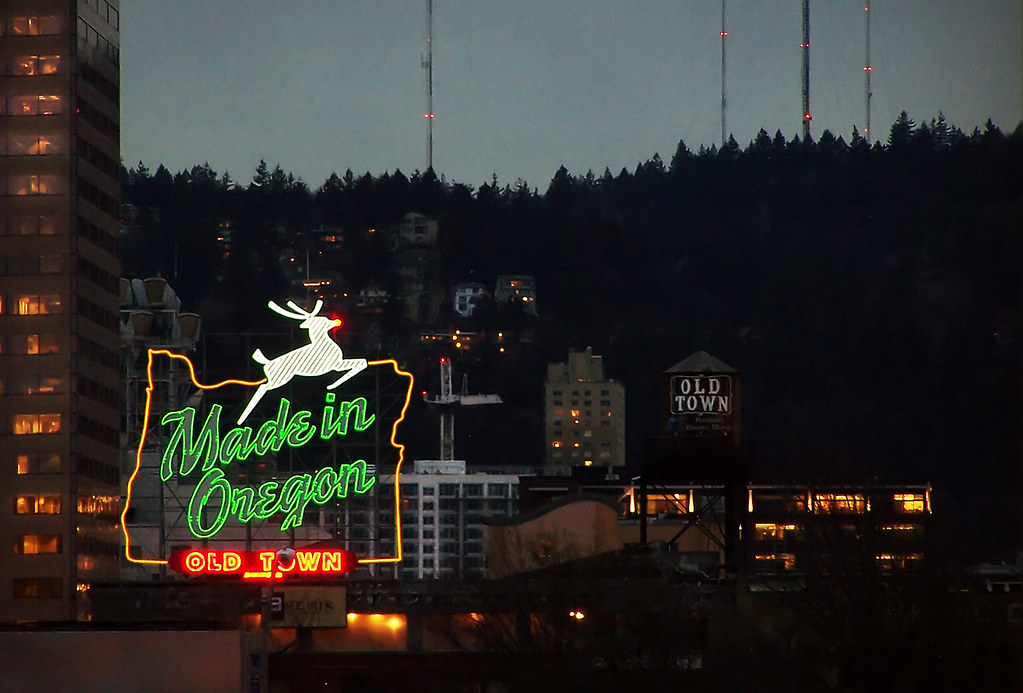 Rudolph the white stag reindeer the icon of portland 39 s - Camera world portland ...