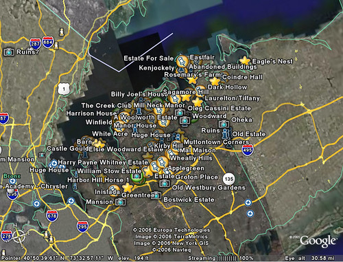 Long Island Gold Coast Map